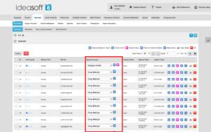 IdeaSoft paneli siparişler ve durumları ekran görüntüsü